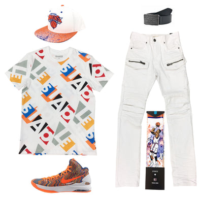 Nike Zoom KD 5 Christmas Orange Outfit - Fashion Landmarks