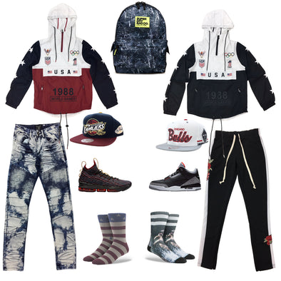 Air Jordan 3 Black Cement & LeBron 15 Multicolor Outfit - Fashion Landmarks