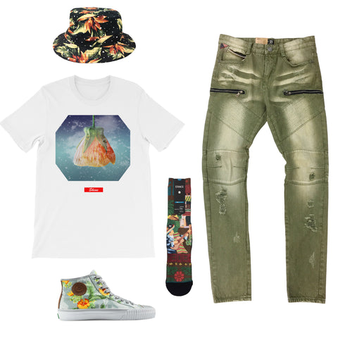 PF Flyers Floral Pack Outfit - Fashion Landmarks