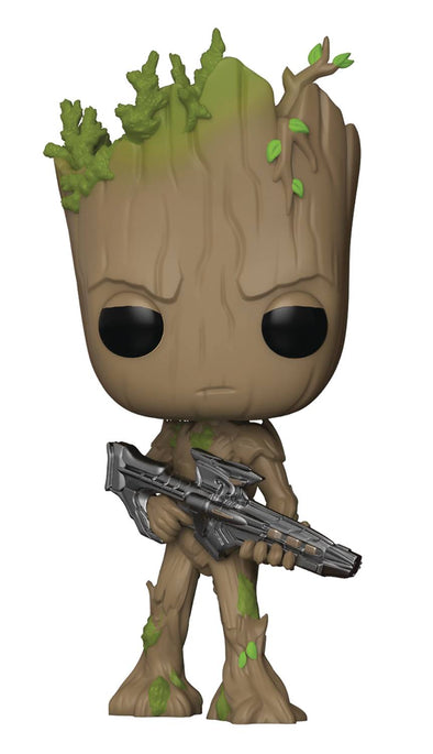 Pop Avengers Infinity War Groot with Blaster Vinyl Figure - Fashion Landmarks