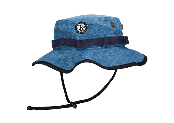 Mitchell & Ness Denim Printed Boonie Bucket Brooklyn Nets - Fashion Landmarks