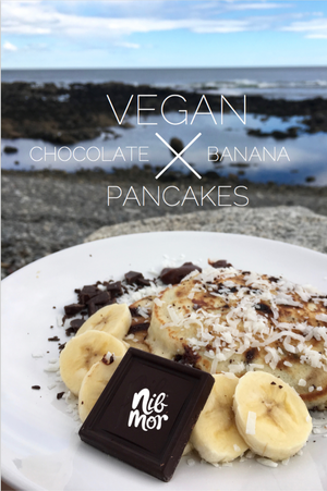 Vegan Chocolate Banana Pancakes