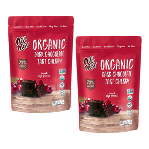 16 oz Organic Dark Chocolate with Tart Cherries 72% Cacao Snacking Bag