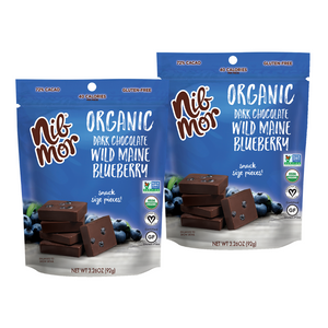 Organic 3.26oz Snacking Bag - Wild Maine Blueberry - 72% Cacao - 2 for $11.99, , NibMor, NibMor - NibMor