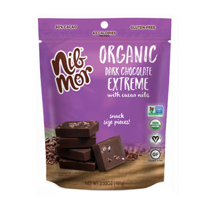 Organic 3.55oz Snacking Bag - Extreme - 80% Cacao - 2 for $11.99, , NibMor, NibMor - NibMor