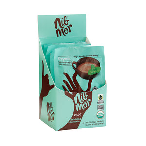 NibMor Organic Drinking Chocolate - Delicious Treat - Mint, 1.05 oz (Pack of 6), Drinking Chocolate, NibMor, NibMor - NibMor