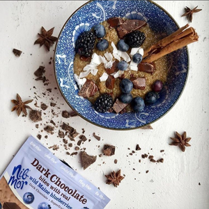 Natural Dark Chocolate Bites with Real Wild Maine Blueberries, Natural Bars, NibMor, NibMor - NibMor