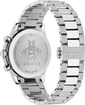 b6875179647 ... Gucci G-Timeless Unisex   Men s 38mm White Dial With Stainless Steel  Bracelet Strap Watch ...