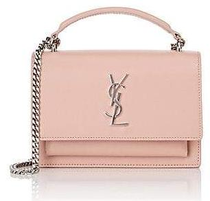 SAINT LAURENT Monogram Sunset leather wallet-on-chain Hand Bag Pale Blush (452157 D422N 6920) *New*