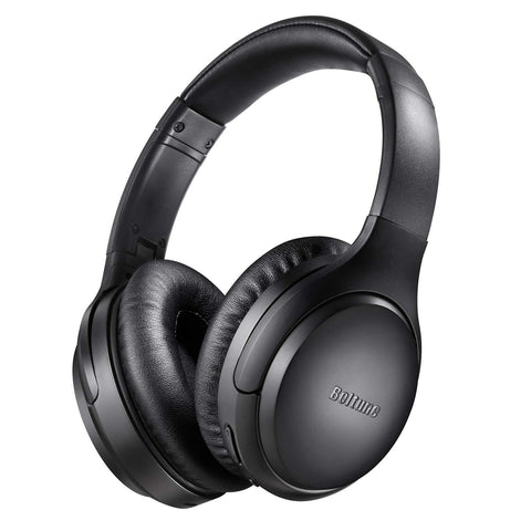 Boltune Active Noise Cancelling Bluetooth 5.0 Wireless Headphones Over Ear Headset Hi-Fi Deep Bass 30 Hrs Playtime with CVC 8.0 Mic (BT-BH010) *New Unsealed*