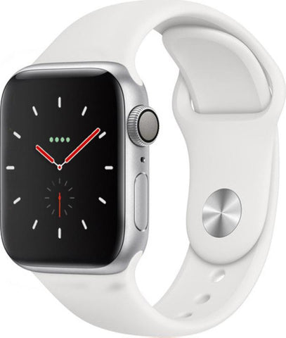 Apple Watch Series 4 GPS, 40mm Silver Aluminium Case with White Sport Band (MU642B/A) *New*