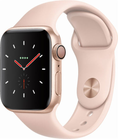 Apple Watch Series 4 GPS, 40mm Gold Aluminium Case with Pink Sand Sport Band (MU682B/A) *New*