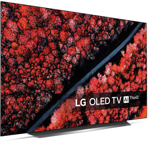 "LG OLED65C9PLA (2019) OLED HDR 4K Ultra HD Smart TV, 65"" with Freeview Play/Freesat HD, Dolby Atmos & Streamlined Alpine Stand, Ultra HD Certified, Black & Silver *New*"