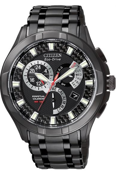 Citizen Calibre 8700 Eco-Drive  Men's 42mm Black ion Chronograph Watch - BL8097-52E