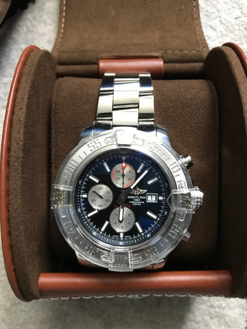 18f17b38d90 ... Breitling Super Avenger II Mens 48mm Stainless Steel Watch -  A1337111 BC29 168A  New ...