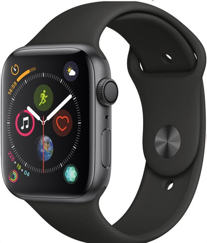 Apple Watch Series 4, 40mm, GPS [2018] - Space Grey Aluminium Case with Black Sport Band (MU662B/A) *New*