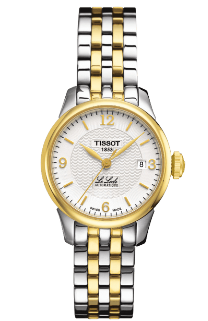 Tissot Le Locle Automatique Ladies 25mm Gold & Silver Bracelet Watch T41218334