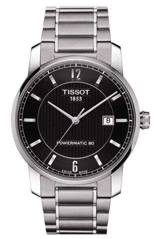 Tissot T-Classic Men's 40mm Titanium Automatic Powermatic 80 Watch T0874074405700