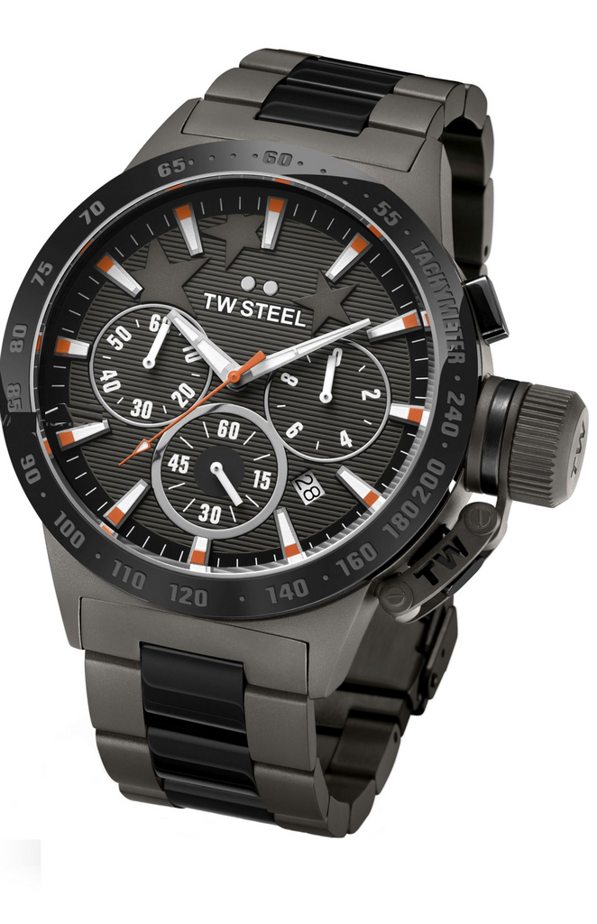TW Steel Canteen Special Edition Men's 45mm Michel Edition Black Ion Platted Watch TW313