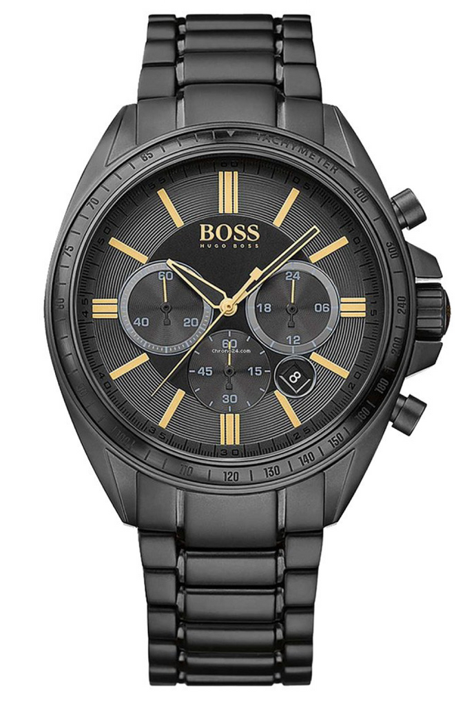 Hugo Boss Driver Men's 44mm Black Chronogragh Black ion-plated Watch - 1513277