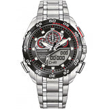Citizen Men's 44mm Eco-Drive Promaster Super Sport Black Dial SS Chronogragh Watch  JW0111-55E