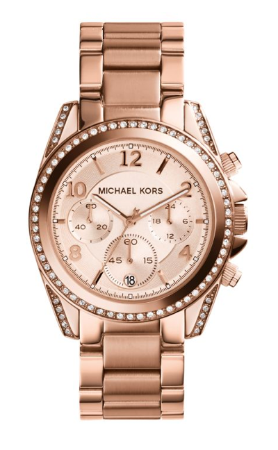 Michael Kors Blair Watches Rose Gold 39mm Dial Ladies Chronograph Watch MK5263 *New*