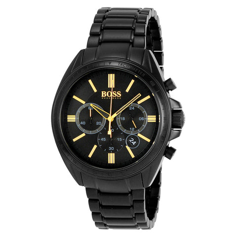 offizieller Laden verschiedene Farben verschiedene Stile Hugo Boss Driver Men's 44mm Black Chronogragh Black ion-plated ...