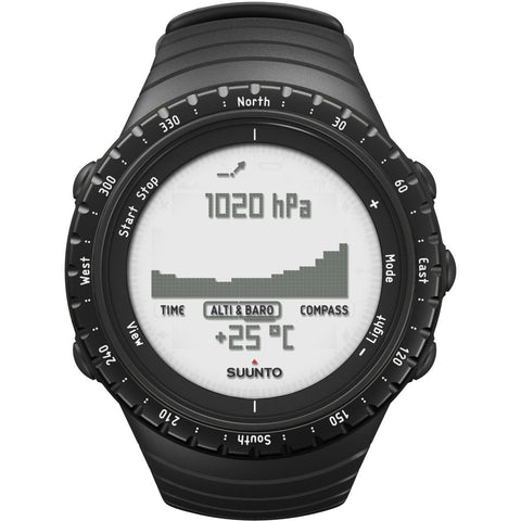 Suunto Core Mens Alarm Chronograph outdoor watch with altimeter, barometer & compass. Durable. Regular Black (SS014809000)