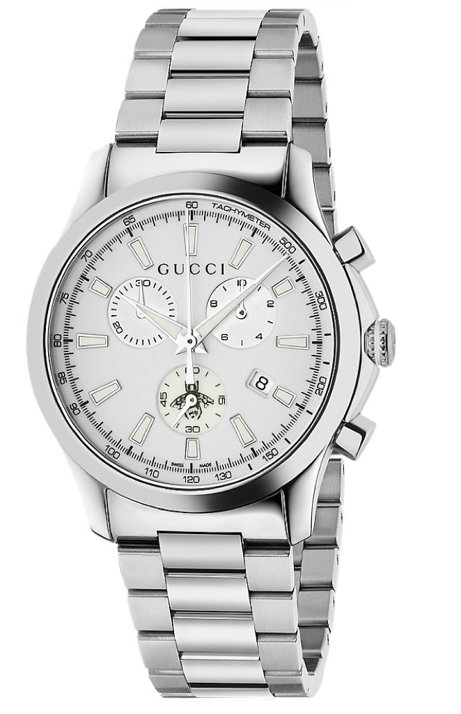 2787de12f88 Gucci G-Timeless Unisex   Men s 38mm White Dial With Stainless Steel B –  Alectronics