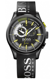 Hugo Boss Yachting Timer 2 Men's 46mm Chronograph Watch, Black Silicone Rubber Strap - 1513337