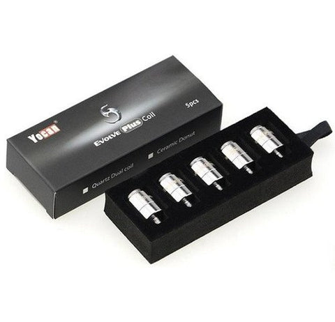 Yocan Evolve Plus Replacement Quartz Dual Coils 5pk