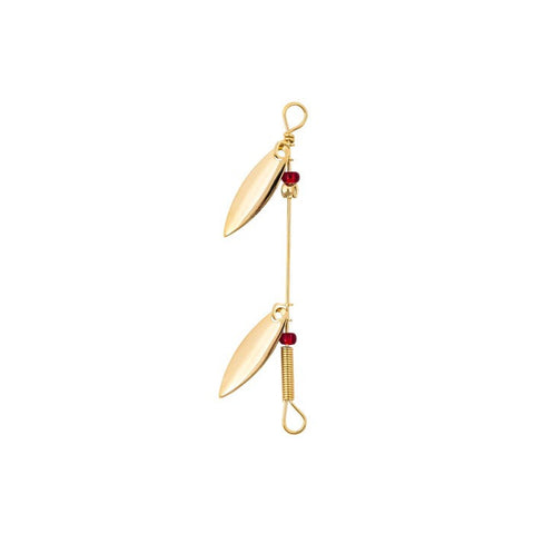 Lucky Strike : #0 Gold Willow Leaf Double Spinner
