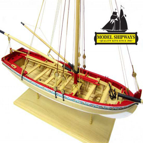 "MODEL SHIPWAYS : MS1457  18th Century Longboat 1/4"" Scale"