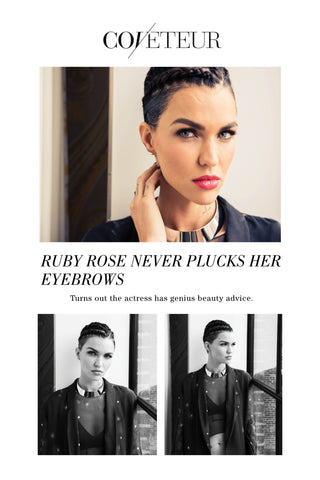 Ruby Rose wears the Shahla Karimi Mirror Choker for The Coveteur