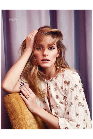 Olivia Palermo wears the Shahla Karimi Spiral Ring for Elle Malaysia