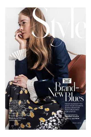 InStyle Magazine features the Shahla Karimi 14K Subway Series Rings