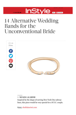 InStyle.com features the Shahla Karimi 14K Subway Fine Ring - Yankee Stadium to Wall Street