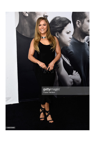 Ronda Rousey wears the Shahla Karimi Mirror Choker to the premiere of The Fast and the Furious 7