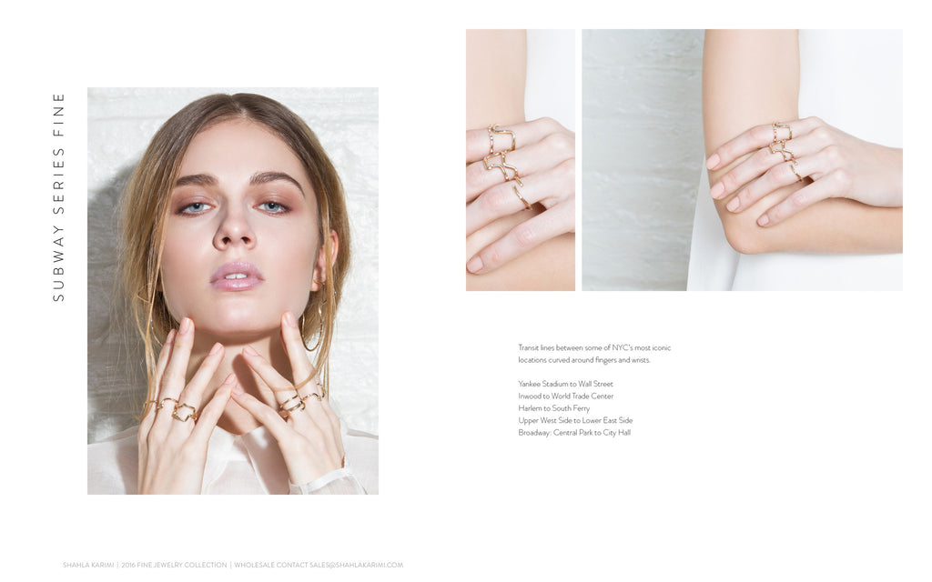 Shahla Karimi 14K Subway Series Fine Collection Lookbook - Shahla Karimi 14K Subway Series Fine Rings Set of Five