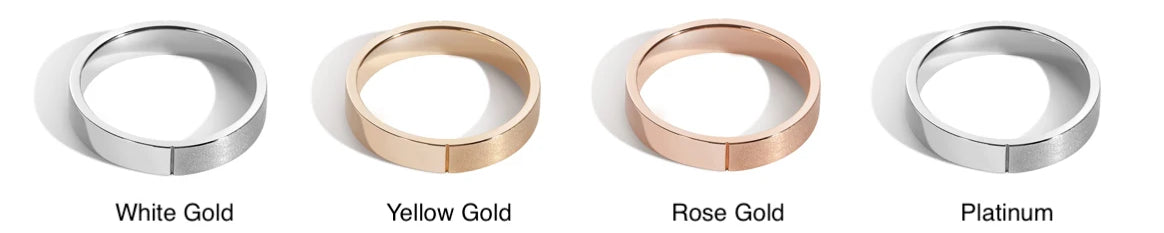How to choose your wedding band metal