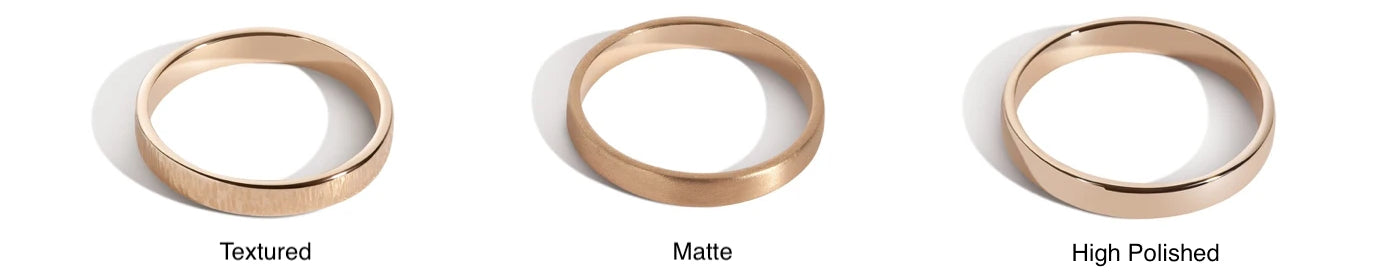 How to choose your wedding band finish