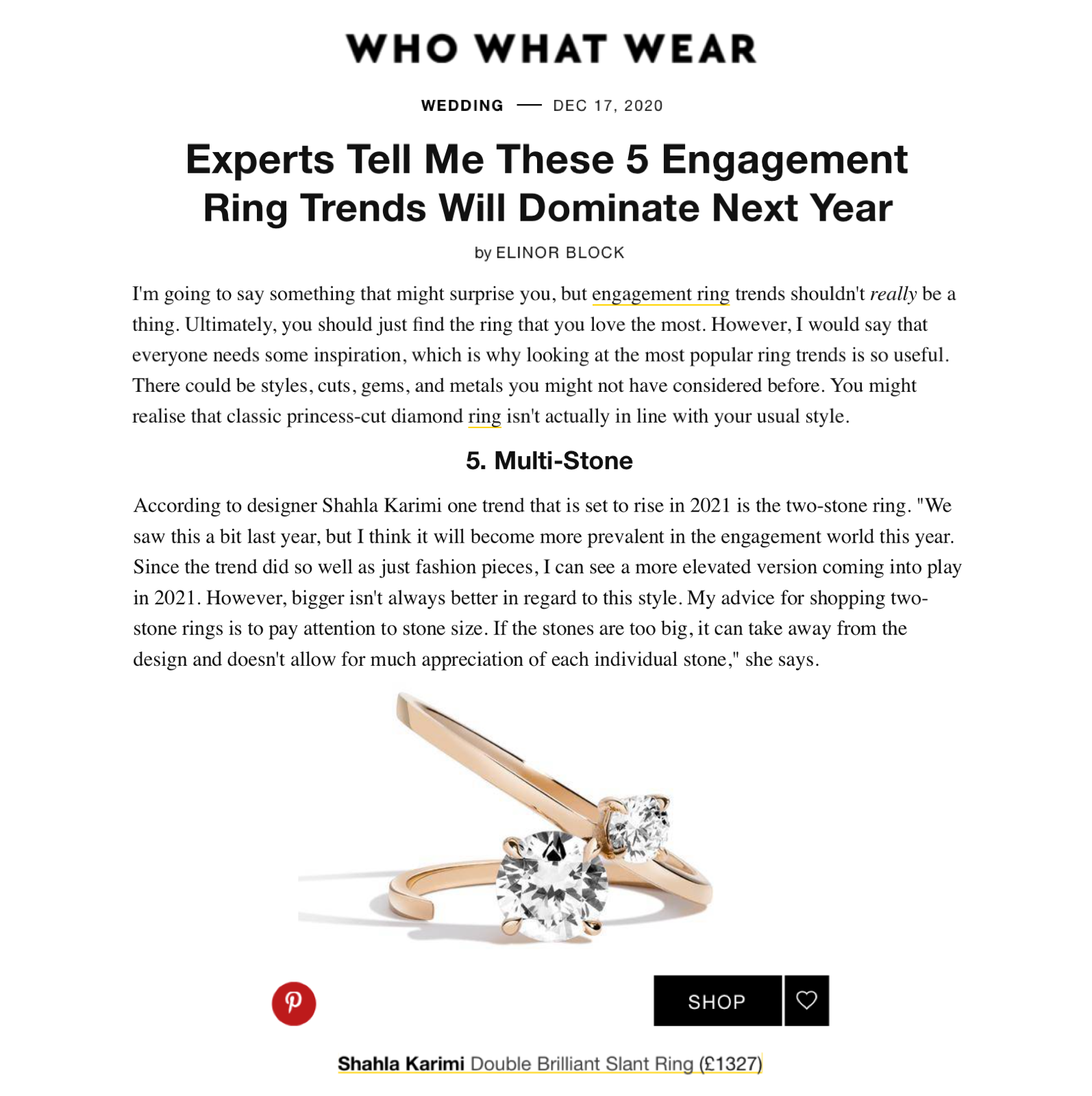 Two-stone rings Who What Wear