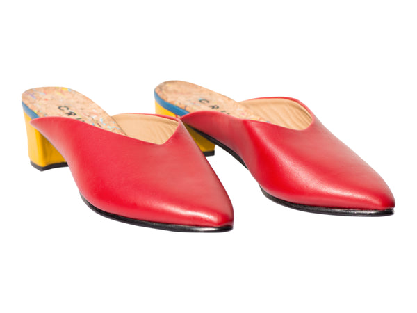 Cruda -Cecilia Mules Red