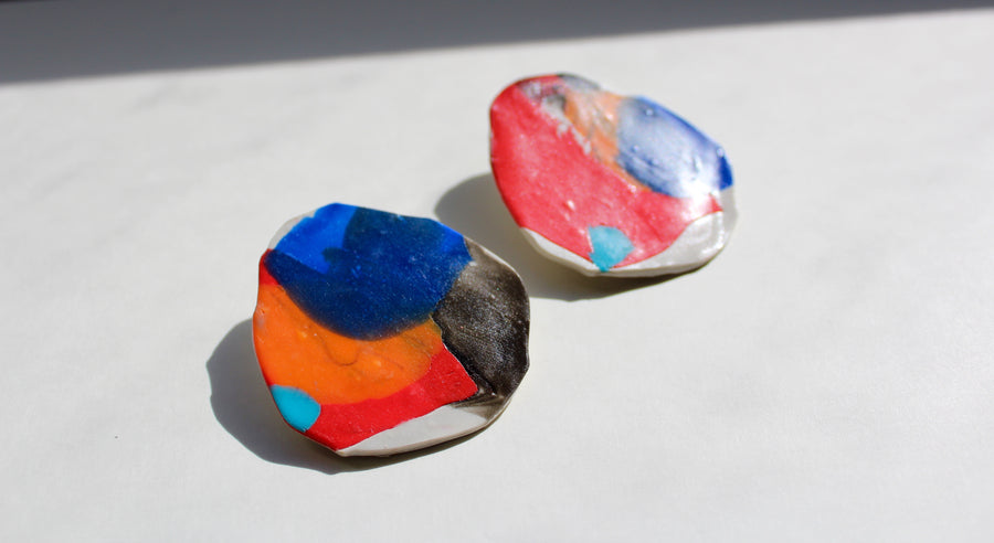 Aim Design Clay Earrings