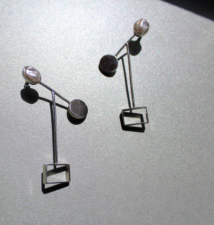 Silver Rodete Pinzon Earrings
