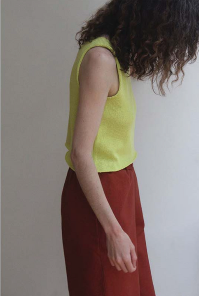 Nido- Lime Green Crop Top