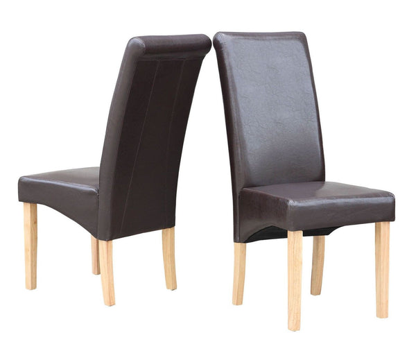Wisconsin Premium Faux Leather Dining Chairs - GSR Decor