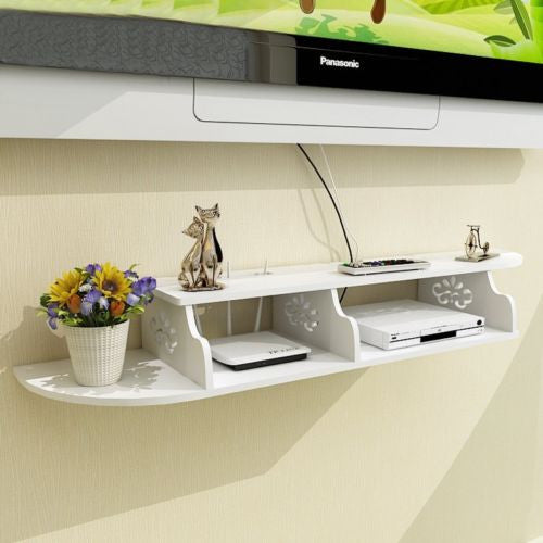 Cyberport 2 Tier Floating Wall shelf - GSR Decor