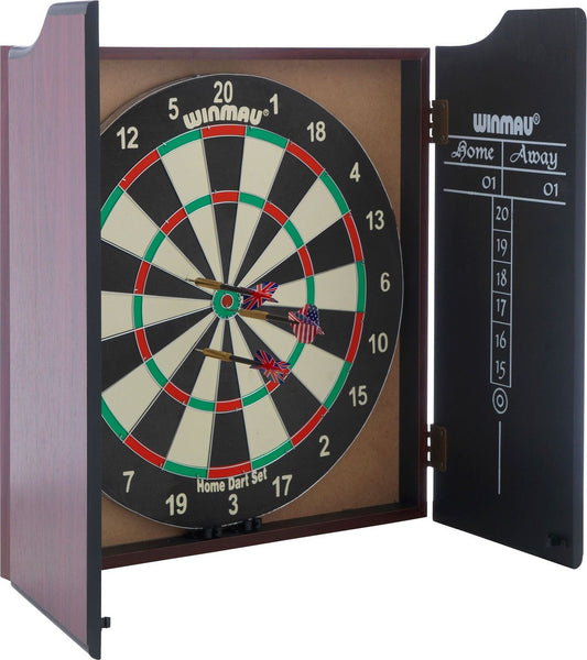 Winmau Professional Dartboard with Deluxe Cabinet and Darts - GSR Decor