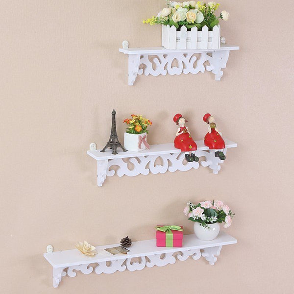 Filigree Shabby Chic Set Of 3 Floating Shelves